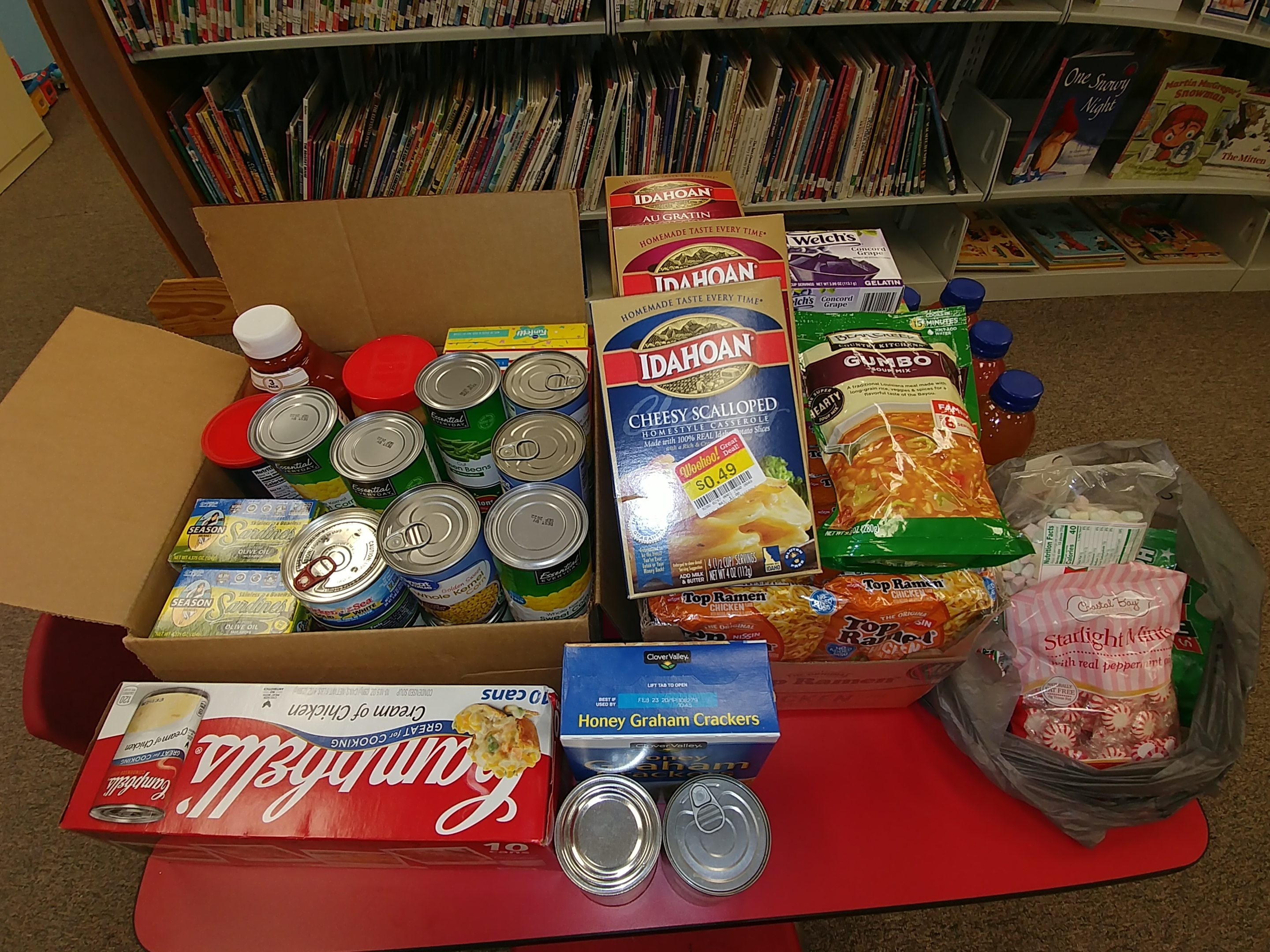 Food Drive & Wishing Tree a GREAT Success!  Thank You!
