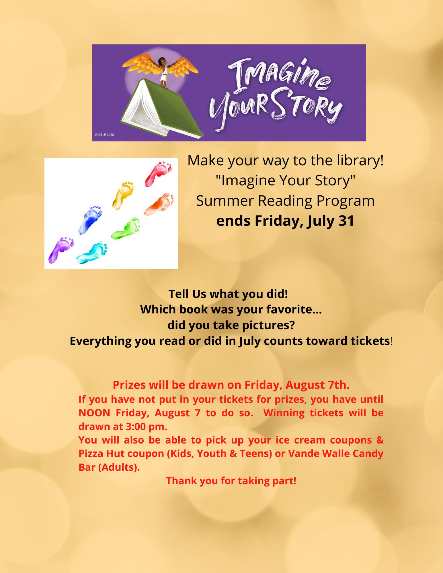Summer Reading Program Ends July 31