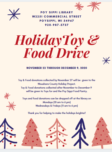 Holiday Toy & Food Drive November 23 through December 9