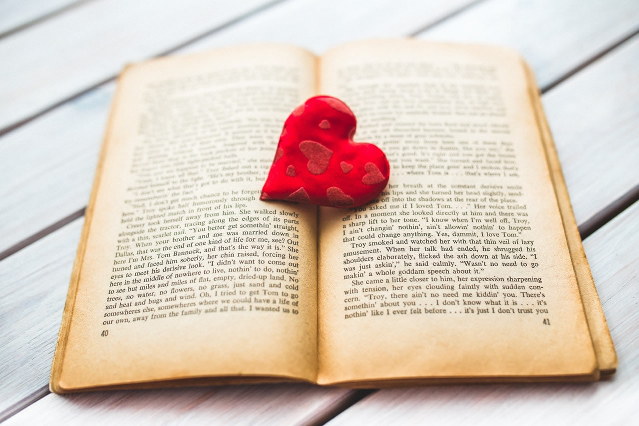 book and valentine